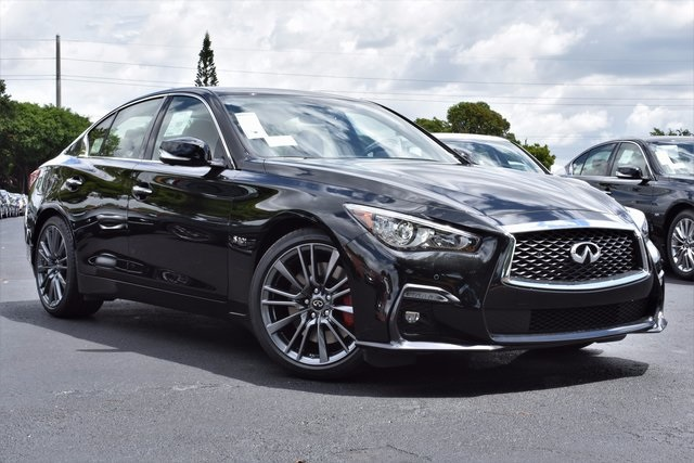 New 2018 INFINITI Q50 Red Sport 400 4D Sedan in Coral ...